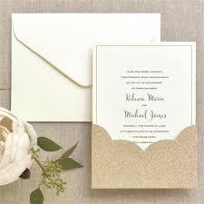 glitter pocket print at home invitation kit gartner studios brides