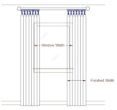 Standard Curtain Panel Width Standard Curtain Width Home And Curtains
