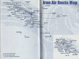 Icelandair Route Map by Airline Memorabilia Marzo 2012