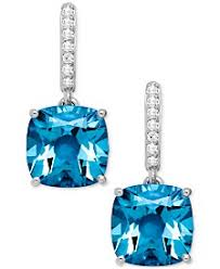 blue topaz earrings blue topaz earrings shop blue topaz earrings macy s