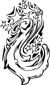 coloring sheet star galaxy tattoo swirl design coloring point
