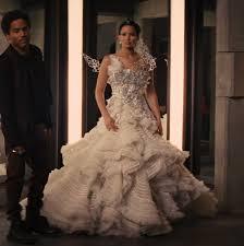 katniss everdeen wedding dress costume the hunger 2 catching hairstyles strayhair