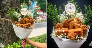food bouquets s pore eatery selling bouquet of fried chicken waffles at s 38