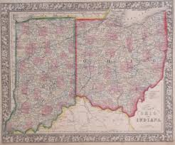 Ohio Map With Counties Antique Maps Of Indiana