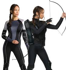 Katniss Everdeen Costume Ladies Katniss Everdeen Hunger Games Fancy Dress Costume Bow Arrow