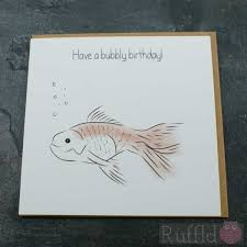 birthday card in the pet range mel the fish