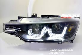bmw headlights swdrltube angel eye headlights bmw 3 series f30 f31 12 15 led u
