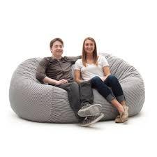 grey bean bag chair large 4 u0027 fuf bean bag chair multiple colors walmart com