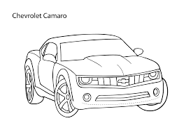 super car chevrolet camaro coloring page cool car printable free