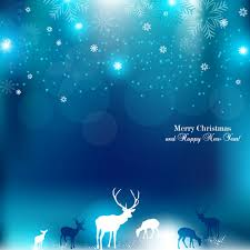 free vector blue bright snowflakes christmas and new year