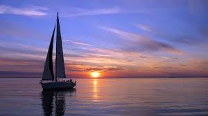 Sailboat Wallpaper Boats Silboat Boats Ship Sailing Ocean Sea Sky Clouds Sunset