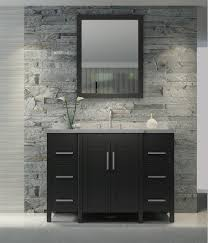 ace hollandale 49 inch single sink bathroom vanity set in black finish