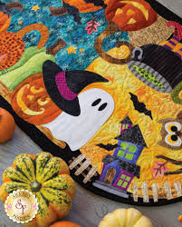 Halloween Flannel Fabric Halloween Patch Table Runner Kit Pre Fused Laser Cut