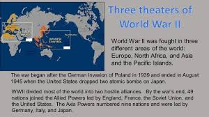 three theaters of world war ii ppt video online download