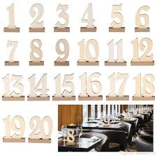 wedding table number holders 1 20 set wooden party table number tag stand wedding table number