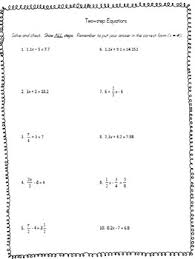 solving two step equations worksheet by anna aguilar tpt