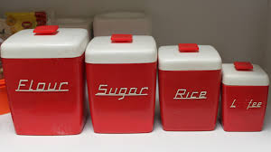 ideas interesting kitchen canisters for kitchen accessories ideas red kitchen canisters with white lid for kitchen accessories ideas