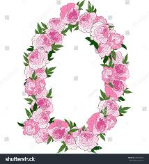 The Pink Peonies by Floral Frame Made Pink Peonies Retro Stock Vector 352043258