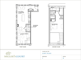 One Bedroom Townhouse Floor Plans