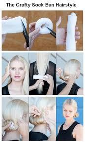 sock hair bun diy sock bun hair pictures photos and images for