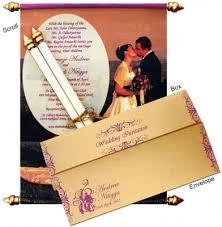 indian wedding invitations scrolls scroll