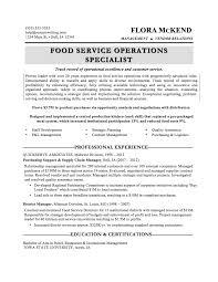 Resume Samples Kitchen Helper by Food Service Resume Template Zuffli