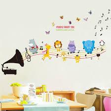 stickers chambre d enfant diy notes de musique stickers muraux maternelle