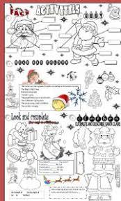 christmas worksheets for adults esl u2013 christmas fun zone