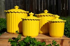 White Kitchen Canisters Sets by Accessories Tasty Lovely Yellow White Stripes Kitchen Canisters