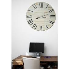 36 in x 36 in oversized farmhouse wood wall clock 036hclw the