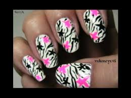 rock star zebra nail design youtube