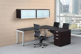 Glass L Shaped Desk Modern Basic L Shaped Desk Bridgecreek Office