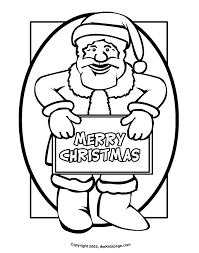 santa claus merry christmas sign free coloring pages kids