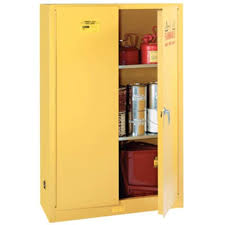 Yellow Storage Cabinet Liquid Safety Storage Cabinet With Two Shelves 18