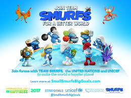 smurfs team united nations 2017 happier