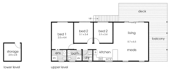 simple and straightforward cabin floor plan 3 bedrooms 2 bright