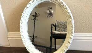 White Oval Bathroom Mirror Oval Bathroom Mirror Higrand Co