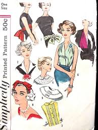 1950s headband beautiful collars surplice dickey headband hat belt accessories