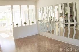 Living Room Mirrors Dining Room Turned Ballet Dance Room Tres Bohemes