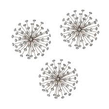 stratton home décor set of 3 gold burst wall décor u2013 stratton home