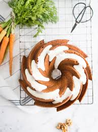 carrot bundt cake with honey and cream cheese icing delicious