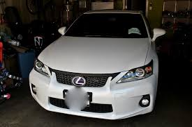 lexus ct200 custom 3m wrap front upper grille part