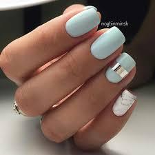light blue natural nail design natural nails pinterest