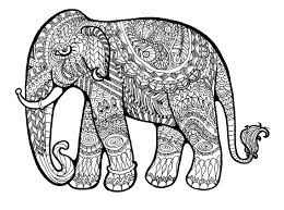 floral elephant coloring pages for hd elephant