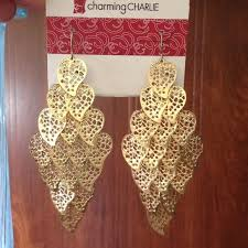 charming charlies earrings 38 jewelry gold leaf earrings charming s from