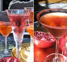 easy thanksgiving cocktail recipe pomegranate and prosecco