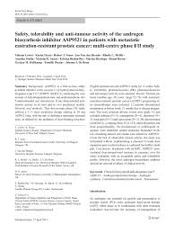 PDF Safety tolerability and anti tumour activity of the androgen