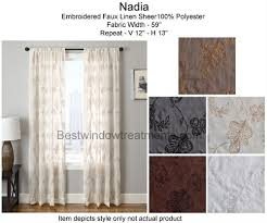 Embroidered Linen Curtains Nadia Curtain Drapery Panels Bestwindowtreatments Com