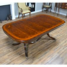 Foot Mahogany Dining Table Three Pedestal Dining Table - Mahogany kitchen table