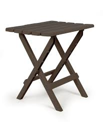 Outdoor Folding Side Table 51886 Large Folding Side Table Brown